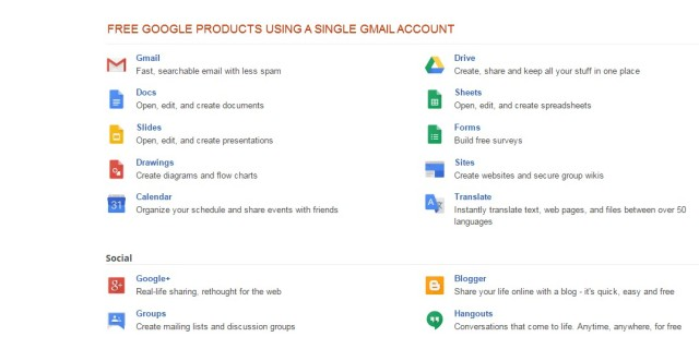 Free Google Products using Gmail